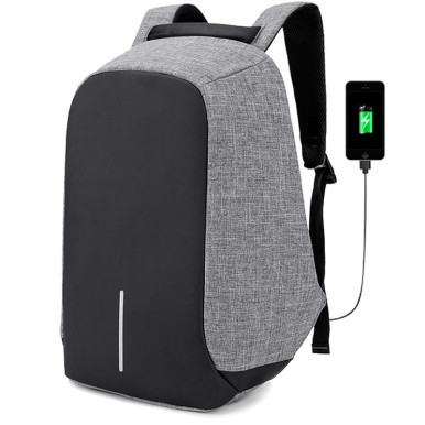 OneBling Anti-theft Full Hidden Zipper Design Men Large Capacity Backpack Patchwork Women School Bag Creative USB Charging Port Laptop Bag Fashion Bags
