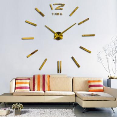 3D Mirror Wall Clock Frameless DIY Size Installation Home Decoration