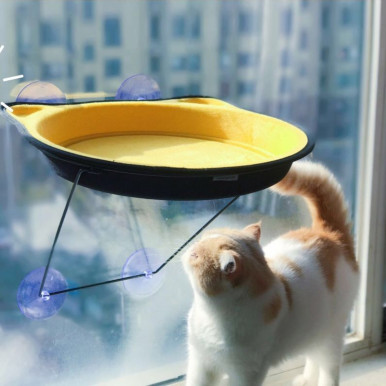 OneBling Sucker Hammock Pet Cat Puppy Windowsill Pet Bed Sleeping Sunbathing Nest
