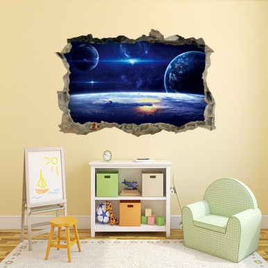 3D Broken Wall Self-Adhesive Removable Wall Stickers / Mural Art Stickers Home Decor