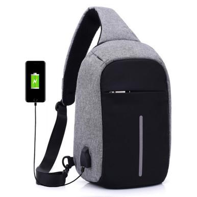 OneBling Anti-theft Waterproof Crossbody Chest Bag For Women Men Travel Bags USB Charging Laptop Bag