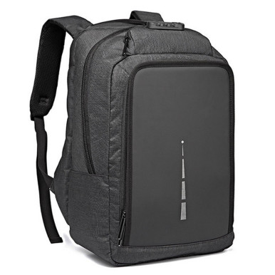 OneBling Men Canvas Bag Multifunction USB Charging Men Laptop Backpack Anti-theft Backpack