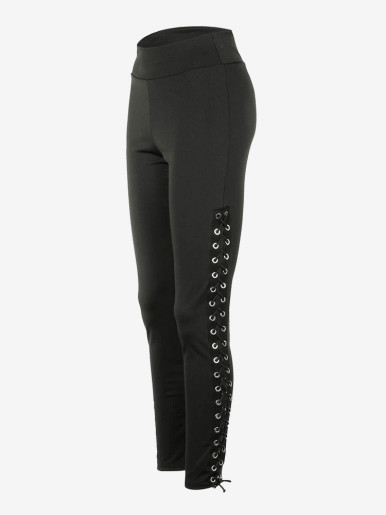 OneBling Eyelet Lace-Up Leggings