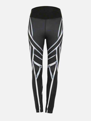 OneBling Geometric Print High Waist Leggings