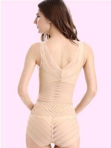 OneBling Women Shapewear High Waist Firm Control Striped Bodysuit