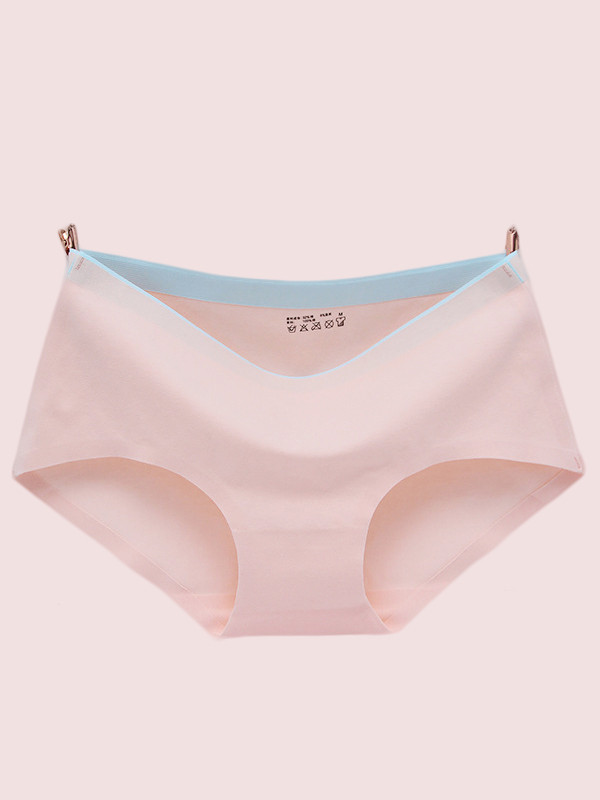 OneBling Contrast Waist Cotton Underpant Women Seamless Briefs
