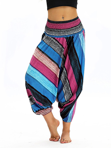 OneBling Dropped Crotch Pants In Stripe