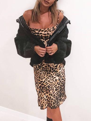 OneBling Leopard Mini Dress