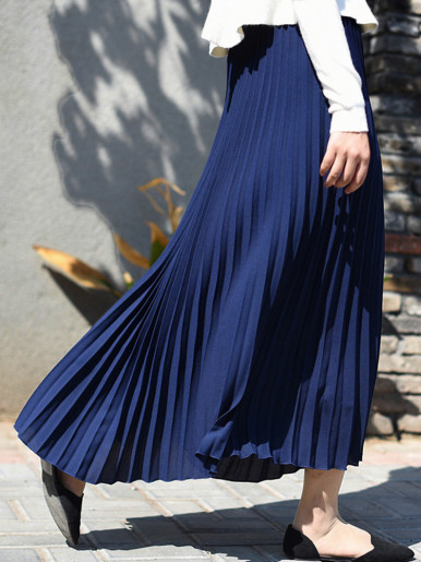 OneBling 80cm / 90cm Solid Pleated Skirt
