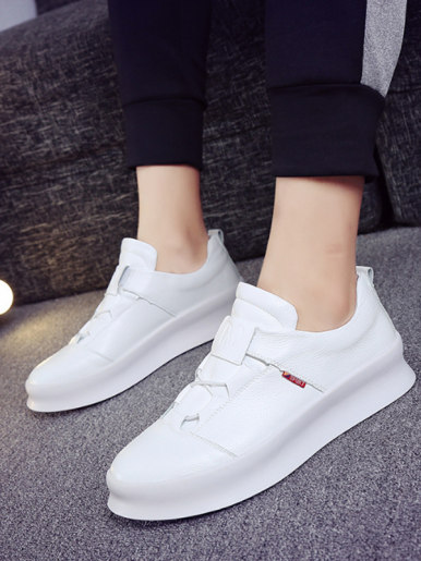 OneBling Microfiber Leather Men Sneakers 2019 Platform Slip On Casual Walking Shoe White Black Waterproof Flat Shoes