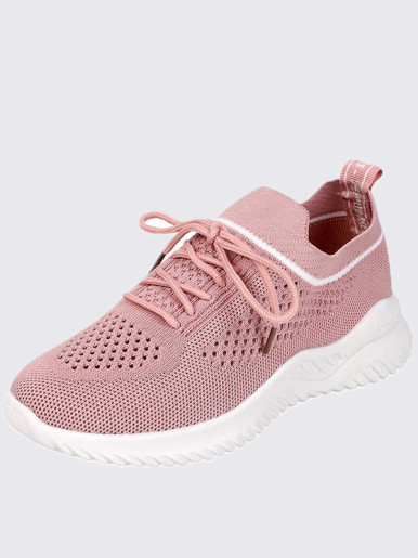 OneBling Platform Knitted Slip On Trainers Women