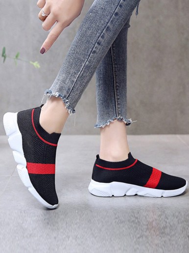 OneBling Colour Block Slip On Trainers Women