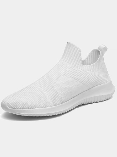 OneBling Plus Size Men Slip On Lightweight Knitted Trainers