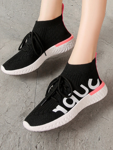 OneBling Slip On High Top Sock Trainers with Chunky Sole Women