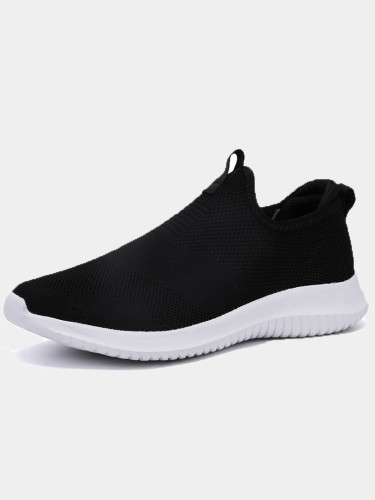 OneBling Plus Size Unisex Knitted Slip On Low Top Lightweight Trainers