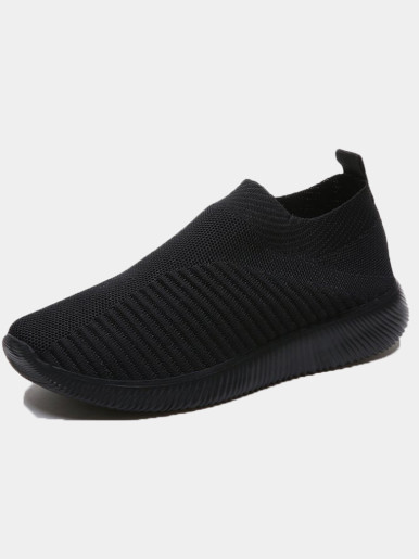OneBling Unisex Slip On Knitted Trainers