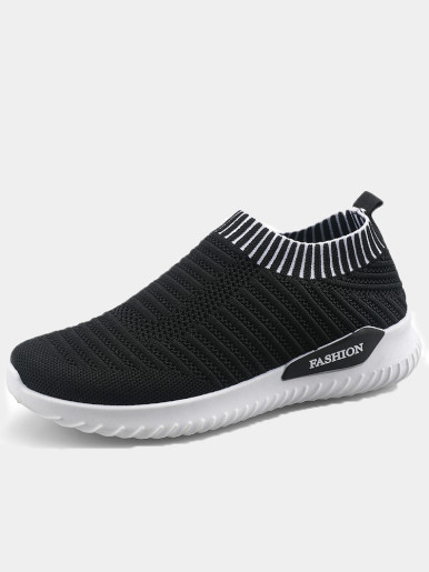 OneBling Slip On Flat Walking Shoes 2019 Spring Autumn Breathable Mesh Knit Sock Shoes Lightweight Sneakers Trainers