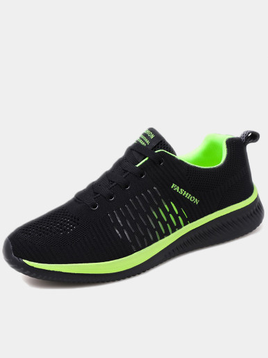 OneBling Casual Shoes Summer Breathable Mesh Man Sneakers Lace-up Trainers Comfortable Autumn Male Flat vulcanized shoes