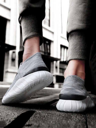 OneBling Platform Flat Slip On Men Trainers 2019 Autumn Breathable Lightweight Mesh Knit Sock Sneakers Walking Shoes