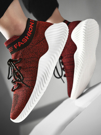 OneBling Plus Size Lightweight Breathable Mesh Knit Stretch Sock Shoes 2019 Autumn Chunky Sneakers Walking Shoes Men Trainers