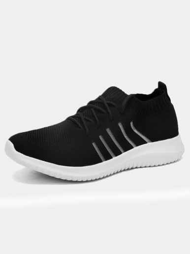 Men Trainers Summer Breathable Hollow Out Knit Sock Sneakers 2019 Lightweight Soft Flat Walking Shoes