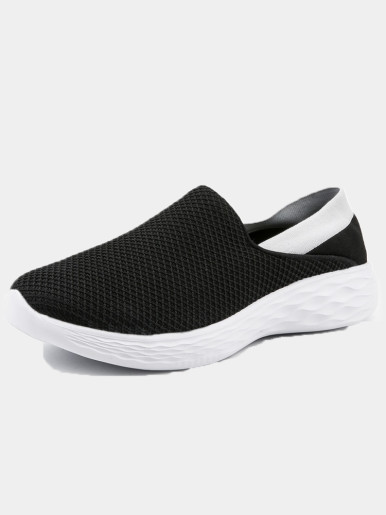 OneBling Patchwork Slip On Lightweight Breathable Men Women Trainers 2019 Casual Flat Sneakers Soft Sock Shoes