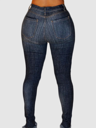 OneBling Distressed Heavy Rips Skinny Jeans with Raw Hem