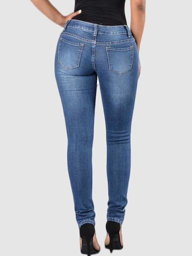 OneBling Distressed Skinny Jeans In Blue