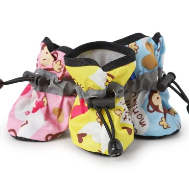 OneBling 4pcs Dog Shoes Pet Cat Rain Boots Puppy Footwear