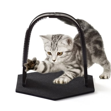OneBling Cat Scratcher Arch Grooming Pet Self Groomer And Massager Fur Brushing