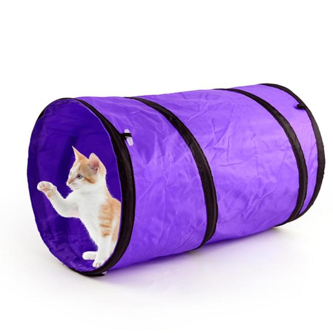 OneBling Foldable Pet Tunnel Toys Cat Training Toy Rabbit Play Tunnel Tube