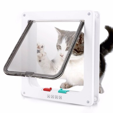 OneBling Security Flap Door for Dog Cat Kitten Small Pet Gate