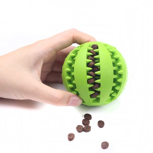 OneBling Pet Dog Toys Elasticity Ball Dog Chew Toy Tooth Clean Rubber Ball