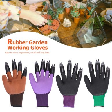Garden Plastic Rubber Gloves With Claws Quick Easy to Dig and Plant