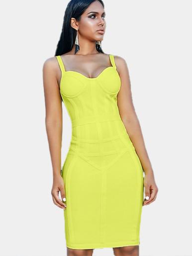 Sweetheart Neckline Corset Midi Dress