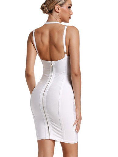 Strappy Bandage Mini Dress with Adjust Strap