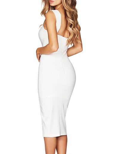 Wide Strap Cami Midi Dress with Side Split