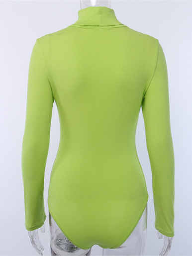 Roll Neck Long Sleeve Bodysuit