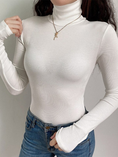 Basic High Neck Long Sleeve Bodysuit