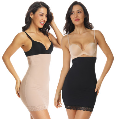 High Waist Bodycon Skirt Tummy Control Body Shaper Dress Half Slips Slim Shapewear Butt Lifter Women Skirts Office Girdle Belt