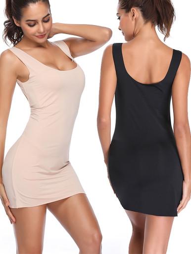 Sexy Lingerie Underdress Slimming Underwear Full Body Shaper Control Slips for Cami Bodysuit Women Seamless Shapewear Nightdress