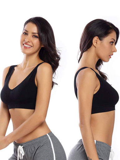 Seamless Underwear Fitness Bra Push Up Vest Brassiere Sports Bralette Sleep Tank Top with Chest Padded Bras for Women Plus Size