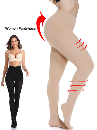 Sexy Stockings Nylon Pantyhose Party Womens High Hosiery Mesh Opaque Tummy Control Slimming Shapewear Stretchy Seamless Tights