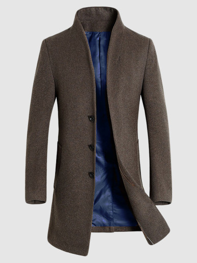 Men's Business Top Wool Trench Overcoat