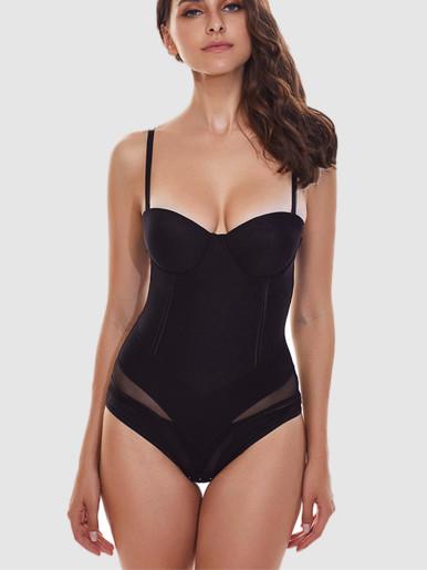 Burvogue Women Firm Body Shaper Seamless Bodysuits Shapewear Waist Cincher Control Butt Shaper Slimming Sexy Underwear Shaper