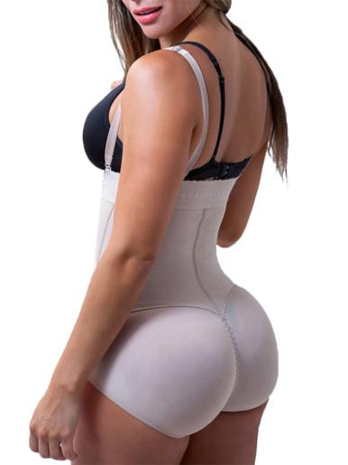 Burvogue Women Shaper Open Crotch Bodysuit Waist Trainer Control Underbust Underwear Shaper Butt Lifter Latex Zipper Body Shaper