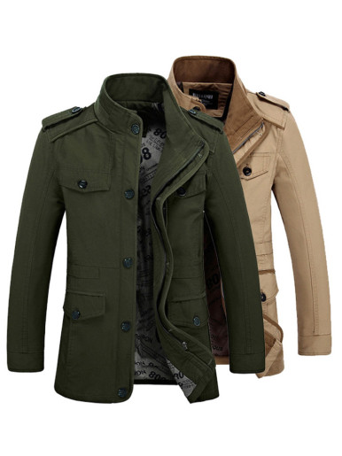 Plus Men Utility Jacket