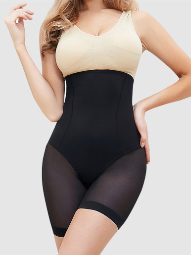 Women's Seamless Plus Size High Waist Control Panties Shapewear Thigh Slimmer Body Shaper Smooth Slip Shorts under Skirt