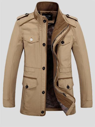 Plus Men Utility Jacket