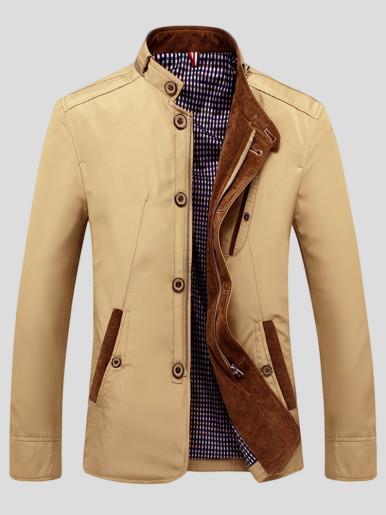 Plus Slim Men Jacket